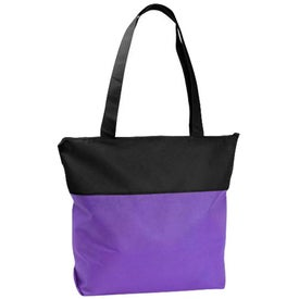 Logo Poly Pro Two-Tone Zippered Tote Bag