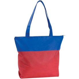 Custom Poly Pro Two-Tone Zippered Tote Bag