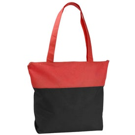 Printed Poly Pro Two-Tone Zippered Tote Bag
