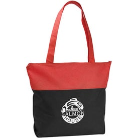Poly Pro Two-Tone Zippered Tote Bags