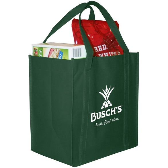 Forest Green Polytex Grocery Tote
