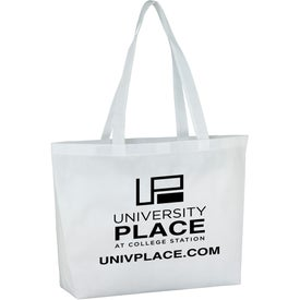 Polytex Large Convention Tote with Your Slogan