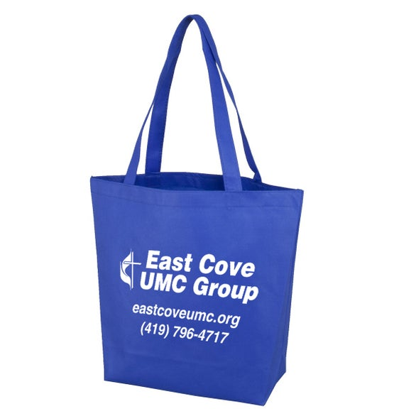 Blue Polytex Small Convention Tote