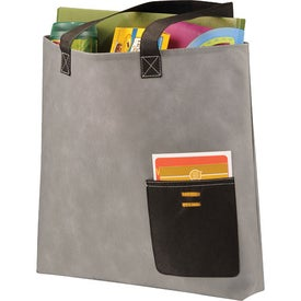 Pop Pocket Convention Tote Branded with Your Logo