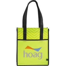 Chevron Shopper Tote Bag with Your Slogan