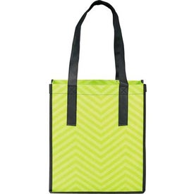 Printed PolyPro Chevron Shopper Tote Bag Printed with Your Logo