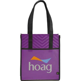 Printed PolyPro Chevron Shopper Tote Bag for Advertising