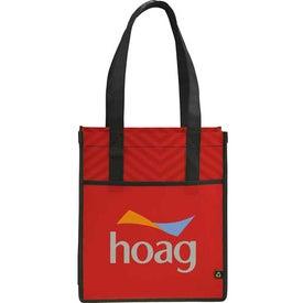 Logo Printed PolyPro Chevron Shopper Tote Bag