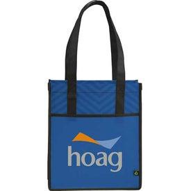 Monogrammed Printed PolyPro Chevron Shopper Tote Bag