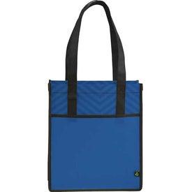 Printed PolyPro Chevron Shopper Tote Bag Giveaways