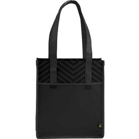 "Chevron Non-Woven Shopper Tote Bag (12"" x 14"" x 5"")"