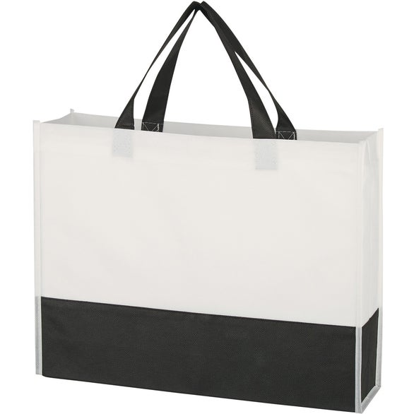 White / Black Prism Tote Bag