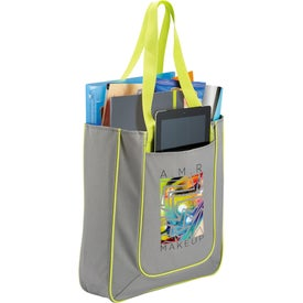 Logo Punch Tablet Tote Bag
