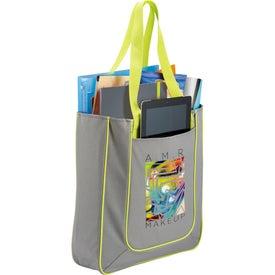 Logo Punch Tablet Tote Bag