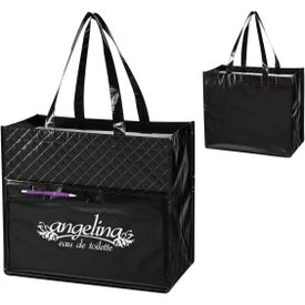 Quilted Diamond Laminated Non-Woven Tote Bag