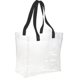 Monogrammed Rally Clear Tote Bag