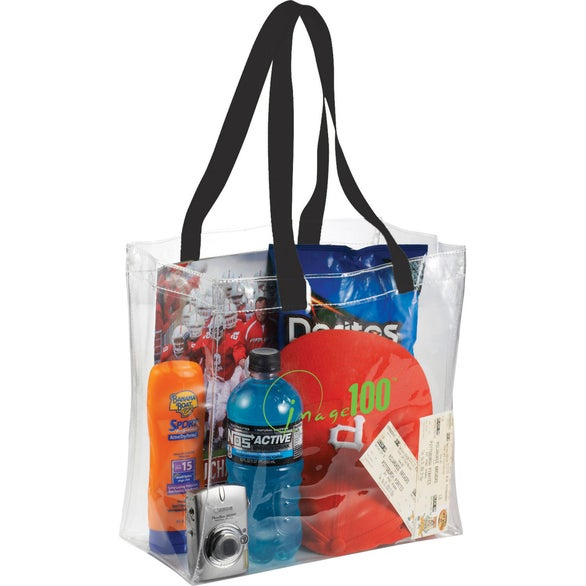 Clear / Black Rally Clear Stadium Tote Bag
