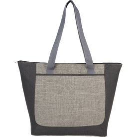 Reclaim Two-Tone Recycled Zippered Tote Bag