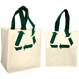 Recycle Symbol Nonwoven Shopping Tote Bag for Your Church