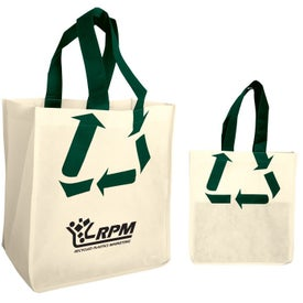 Advertising Recycle Symbol Nonwoven Shopping Tote Bag