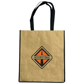 Recycled Paper Tote Bag Imprinted with Your Logo