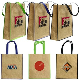 Recycled Paper Tote Bag Branded with Your Logo