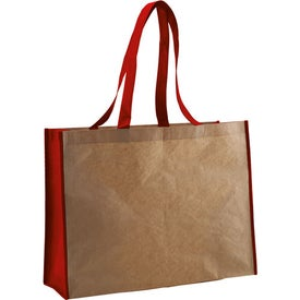 Recycled Paper Non-Woven Landscape Tote for Customization