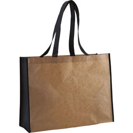 Recycled Paper Non-Woven Landscape Tote with Your Slogan