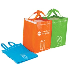 Imprinted Recycling Bin Tote Set