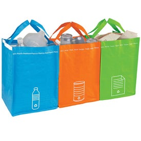 Promotional Recycling Bin Tote Set
