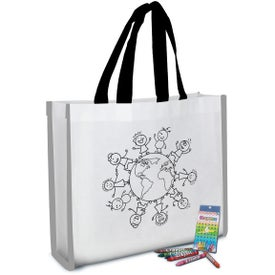 Reflective Coloring Tote Bags with Crayons