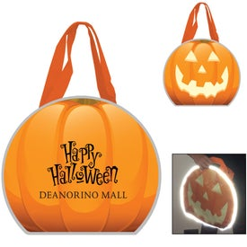 Reflective Halloween Pumpkin Tote Bag