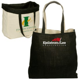 Printed Reversible Jute and Cotton Tote