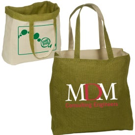 Reversible Jute and Cotton Tote for Promotion
