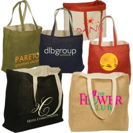Reversible Jute and Cotton Tote for Marketing