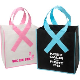 Ribbon Grocery Shopper Tote Bag with Your Slogan