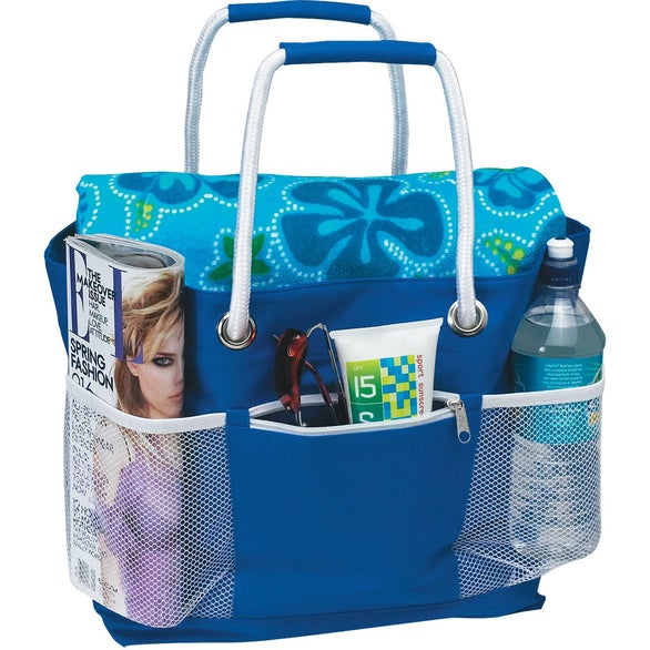 Royal Blue Rope-A-Tote Bag