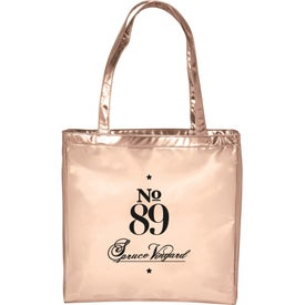 Runway Metallic Tote Bag