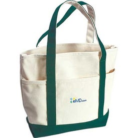 Monogrammed Sea Breeze Canvas Boat Tote