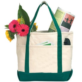 Custom Sea Breeze Canvas Boat Tote