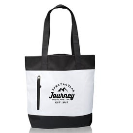 Seaside Tote Bag with Front Zipper