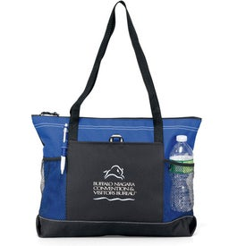 Select Zippered Tote with Your Slogan