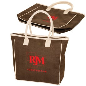 Seville Jute/Canvas Tote for Customization