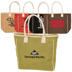 Seville Jute/Canvas Tote for Advertising