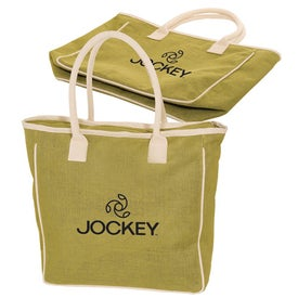 Seville Jute/Canvas Tote for Your Company