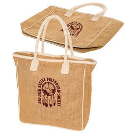 Seville Jute/Canvas Tote with Your Logo