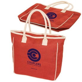 Seville Jute/Canvas Tote Branded with Your Logo