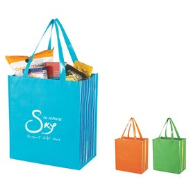 Shiny Laminated Non Woven Tropic Shopper Tote Bag