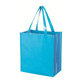 Shiny Laminated Non Woven Tropic Shopper Tote Bag with Your Slogan