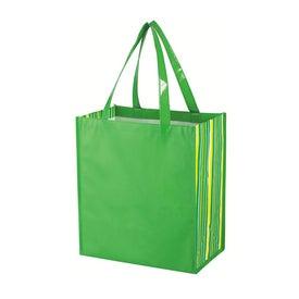 Shiny Laminated Non Woven Tropic Shopper Tote Bag Giveaways